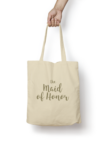 The Maid of Honor Cotton Tote GOLD