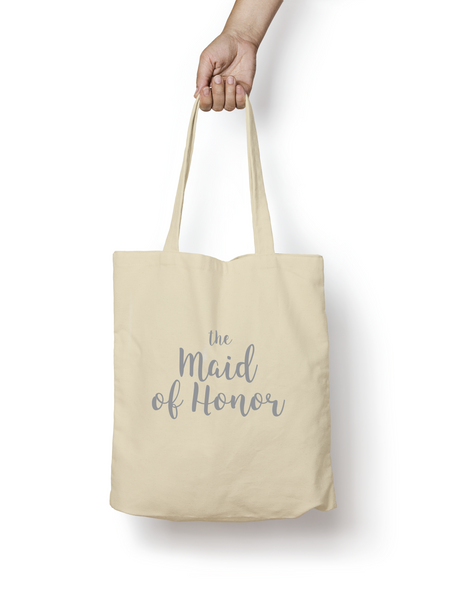 The Maid of Honor Cotton Tote Bag SILVER