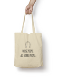 Horse People are Stable People Cotton Tote Bag - Promofix Gifts