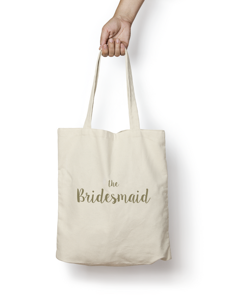 The Bridesmaid Cotton Tote Bag GOLD - Promofix Gifts