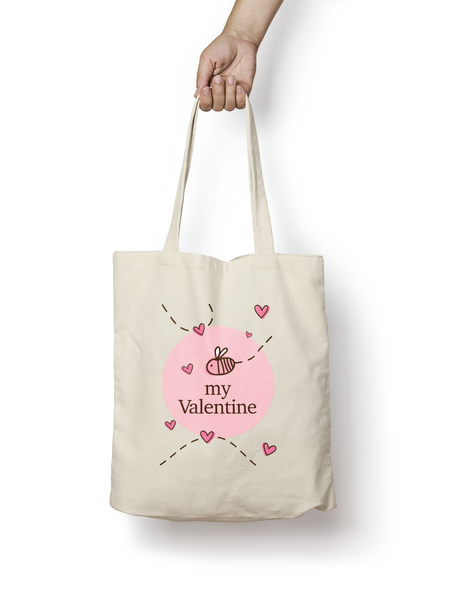 Be My Valentine - Bumble Bee Tote Cotton Bag - Promofix Gifts