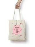 Auntie to be - Bumble Bee Cotton Tote Bag - Promofix Gifts   - 3