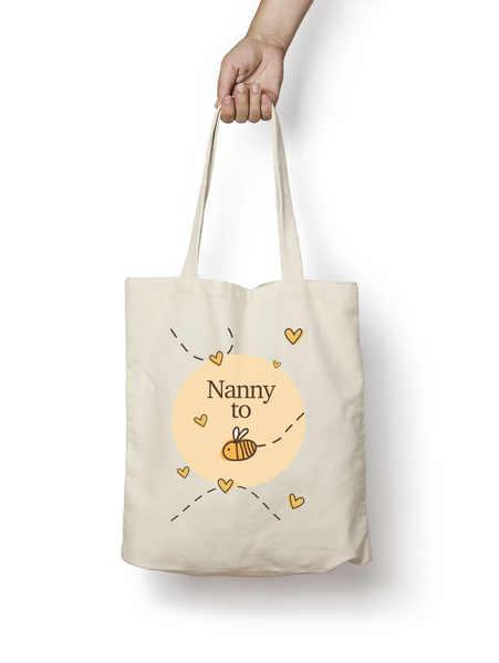 Nanny to be - Bumble Bee Cotton Tote Bag - Promofix Gifts   - 1