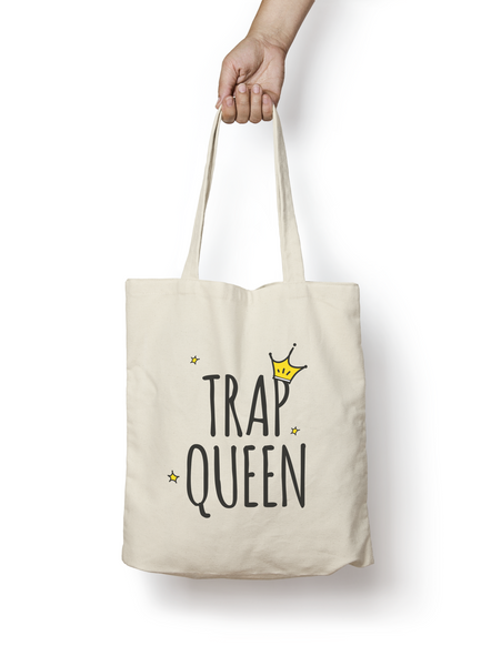 Trap Queen Cotton Tote Bag - Promofix Gifts