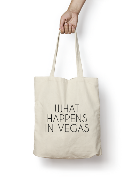 What Happens in Vegas Cotton Tote Bag - Promofix Gifts