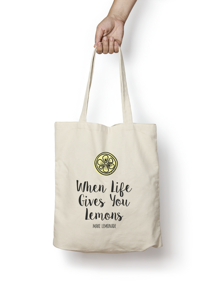 When Life Gives You Lemons Cotton Tote Bag - Promofix Gifts