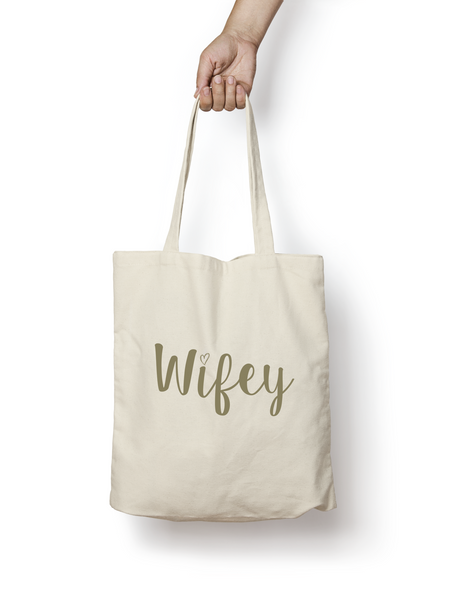 Wifey Cotton Tote Bag GOLD - Promofix Gifts