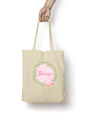 Flamingo Cotton Tote Bag Personalised