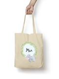 Hippo Cotton Tote Bag Personalised