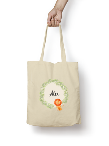 Lion Cotton Tote Bag Personalised