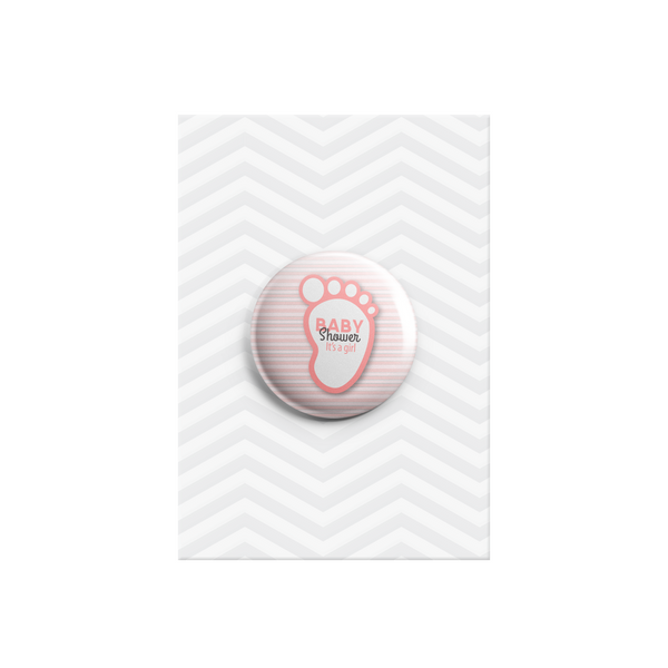 It's a Girl Button Badge 38mm - Promofix Gifts   - 1