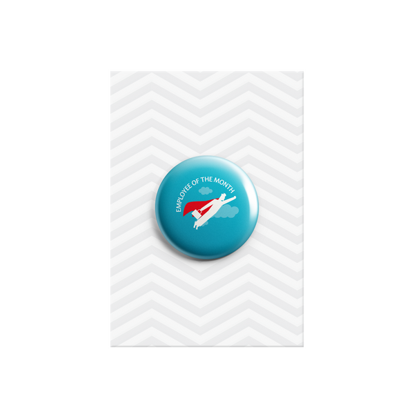 Employee of the Month Hero Button Badge 38mm - Promofix Gifts   - 1