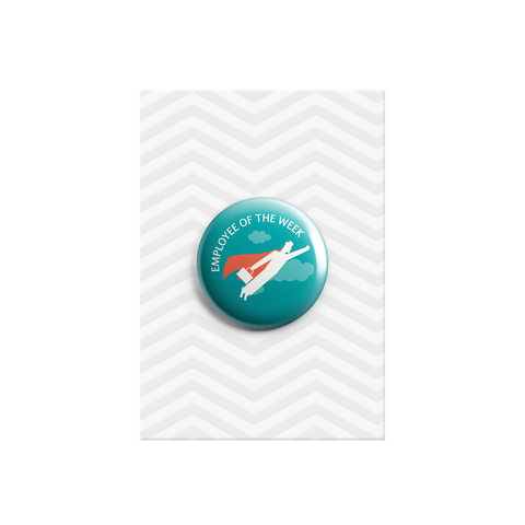 Employee of the Week Hero Button Badge 38mm - Promofix Gifts   - 1