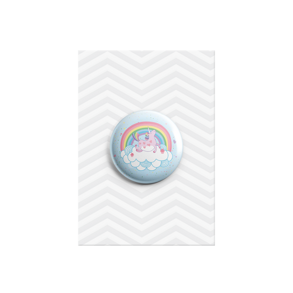 Happy Unicorn Button Badge 38mm - Promofix Gifts   - 1