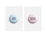 Mr & Mrs Button Badges 38mm - Promofix Gifts   - 1