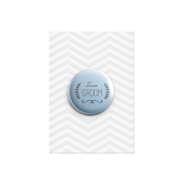 Team Groom Button Badge 38mm - Promofix Gifts   - 1