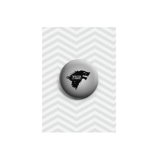 Winter is Coming Button Badge 38mm