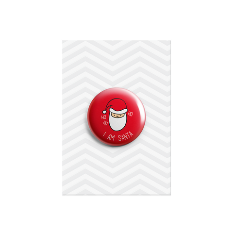 I Am Santa Button Badge 38mm - Promofix Gifts   - 1