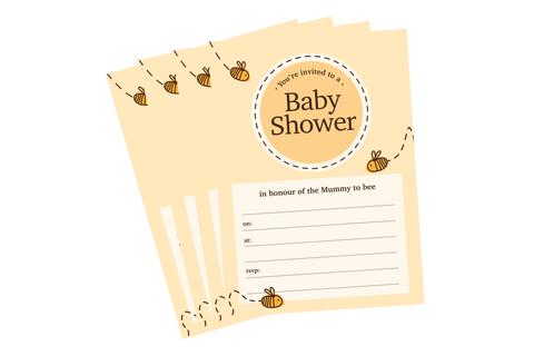 Mummy to Bee Baby Shower Invitations - Pack of 10
