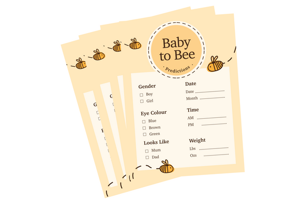 Baby Shower Prediction Cards - Pack of 10
