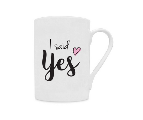 I Said Yes China Mug - Promofix Gifts