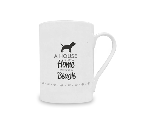 A House is Not a Home Without a Beagle China Mug