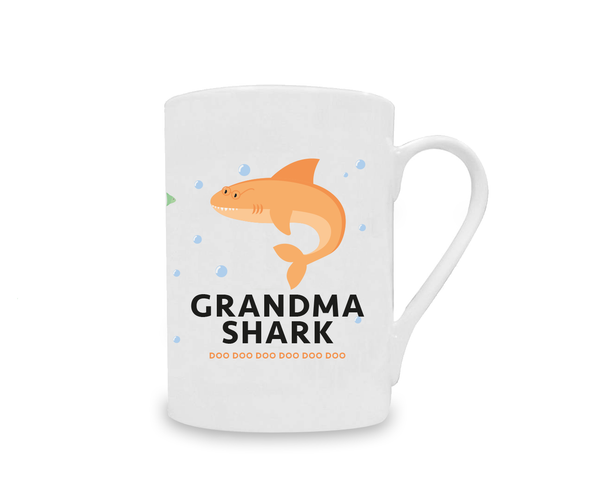 Grandma Shark China Mug