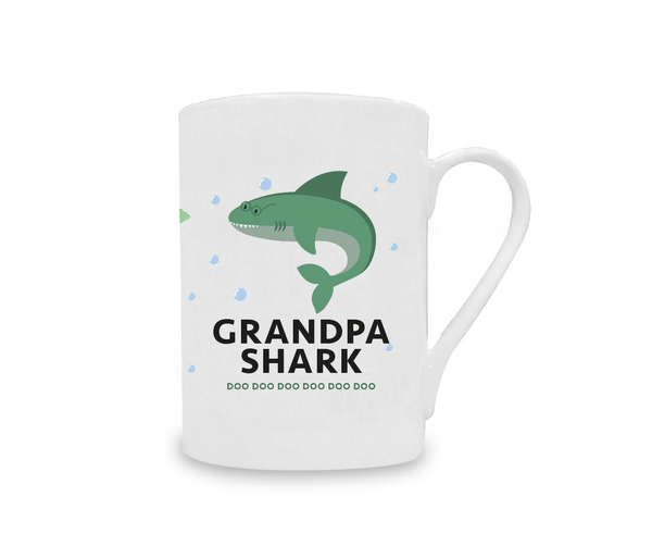 Grandpa Shark China Mug