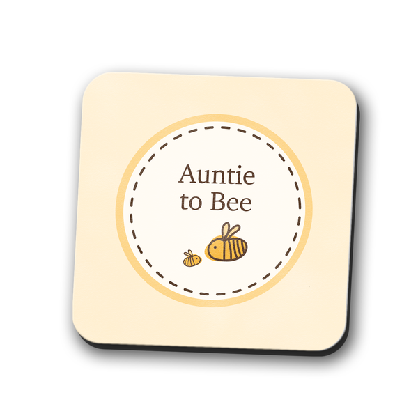 Auntie to Bumble Bee Coaster