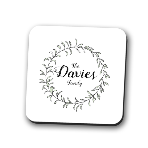 Your Family Name Coaster Personalised