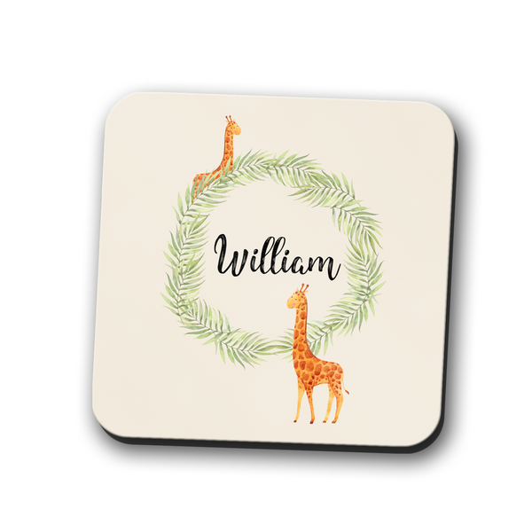 Giraffe Coaster Personalised