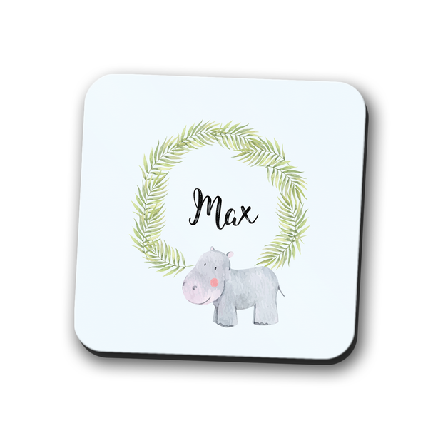 Hippo Coaster Personalised