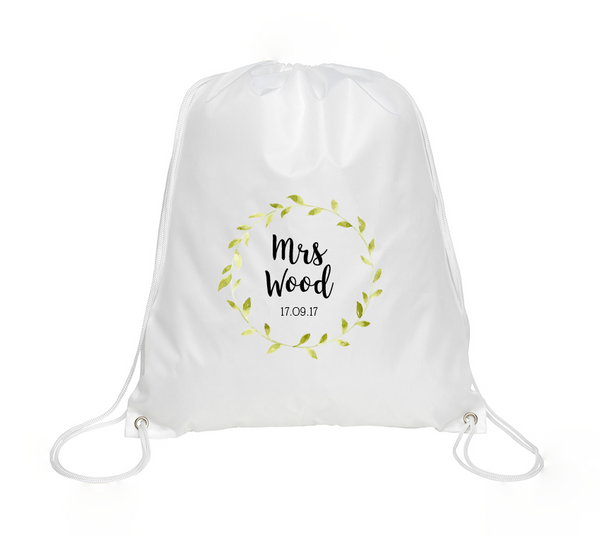 Mrs Personalised Drawstring Bag