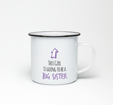 This Girl is Going to be a Big Sister Enamel Mug - Promofix Gifts