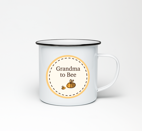 Grandma to Bumble Bee Enamel Mug