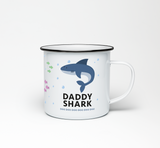 Daddy Shark Enamel Mug