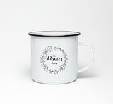 Your Family Name Enamel Mug Personalised