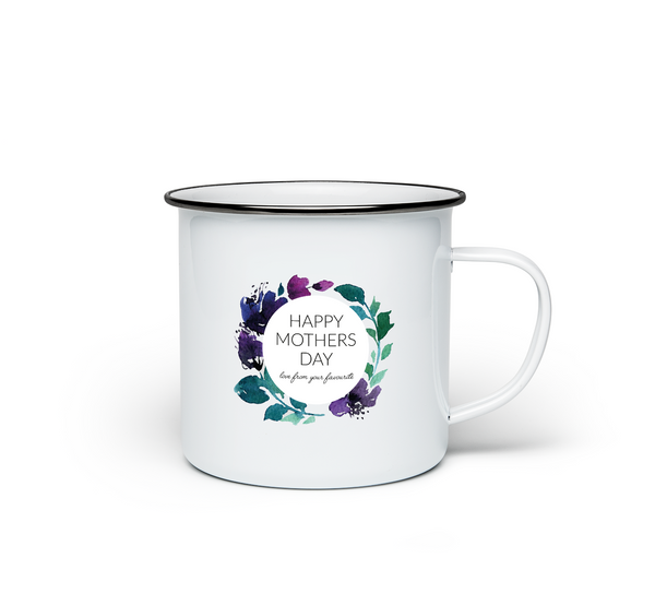 Happy Mothers Day Enamel Mug
