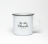 Mr & Mrs Personalised Enamel Mug