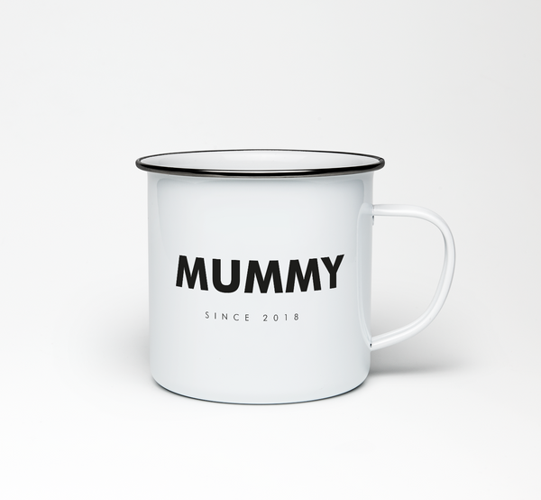 Mummy Since 2018 Enamel Mug