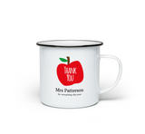 Thank You Teacher Personalised Enamel Mug