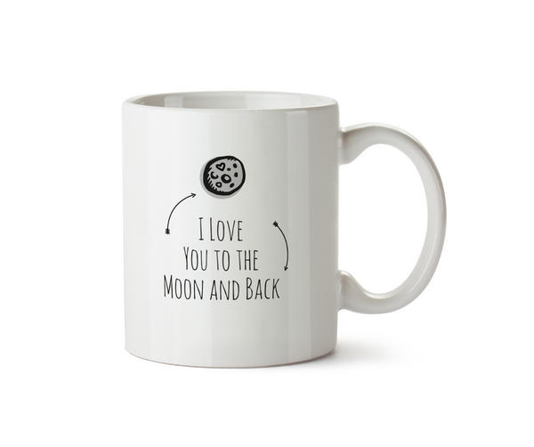 I Love You to the Moon and Back Mug - Promofix Gifts