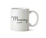 Mummy Est.2016 and Daddy Est.2016 Pair of Mugs - Promofix Gifts   - 3