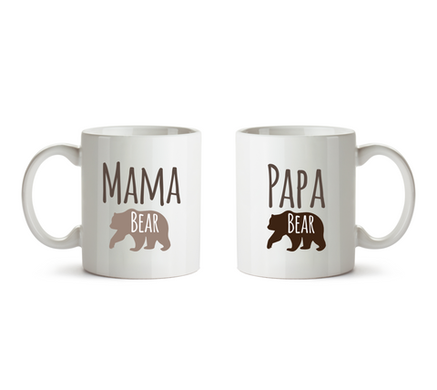 Mama Bear and Papa Bear Pair of Mugs - Promofix Gifts   - 1