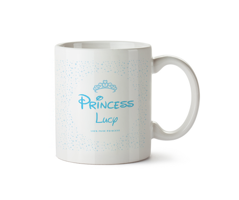 100% Pure Princess Ceramic Mug Blue