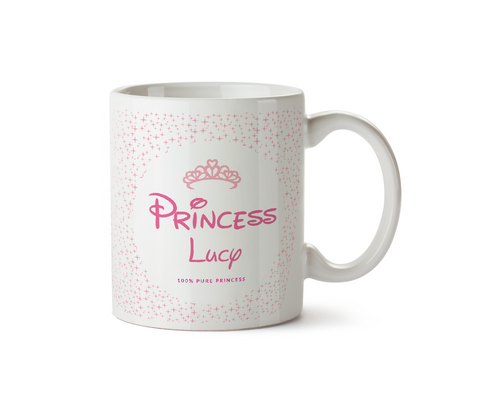 100% Pure Princess Ceramic Mug Pink