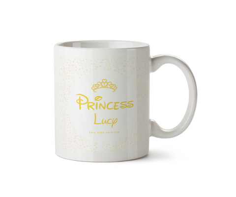 100% Pure Princess Ceramic Mug Yellow
