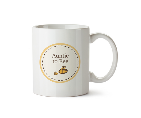 Auntie To Be Ceramic Mug - Bumble Bee Circle Range