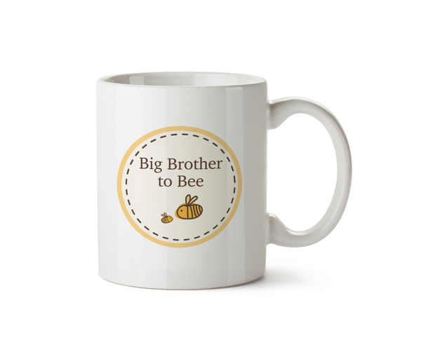 Big Brother To Be Ceramic Mug -  Bumble Bee Circle Range