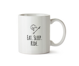 Eat Sleep Ride Mug - Promofix Gifts